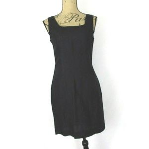 The Limited Black Linen Rayon Mini Sheath Dress